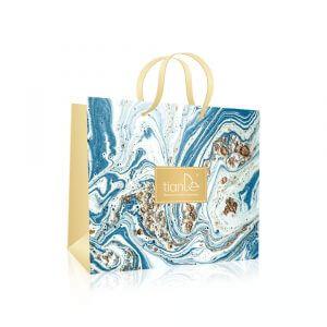 "Papiertasche ""Coast of Azure"", blau (200*250*100 mm)"