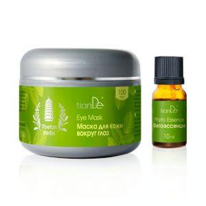 Intensiver Komplex für die Haut im Augenbereich Tibetan Herbs, 100 Stk + 10 ml Kräuteressenz