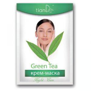 Nachtcreme - Gesichtsmaske grüner Tee, 18 g