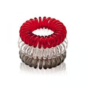 Set Super Haarbänder 3 Stk (transpatent,schwarz,rot)