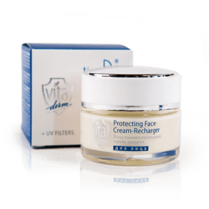 """Regenerierende und schützende Hautcreme """"Vita Derm"""" 50g_19P."""
