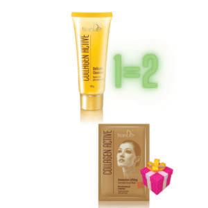 """AKTION!!!Kaufen Sie 1x Collagen Aktive schonender Gesichtsreiniger, 100 g und Sie bekommen 1x Gesichtsmaske """"Intensives Lifting"""" als Geschenk gratis dazu!!!"""