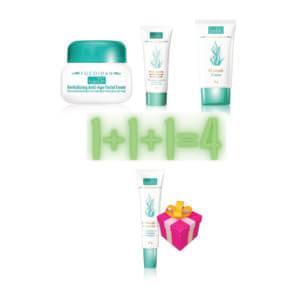AKTION!!! Beim Kauf von 3 Fucoidan Produkten_1x Revitalisierende Anti-Aging-Gesichtscreme+Reinigungsmilch und CC Creme, bekommen Sie als Geschenk 1x Augengel gegen Falten gratis dazu!!!