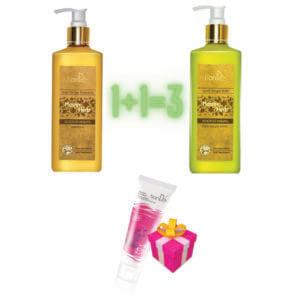 Aktion!!!Beim Kauf 1x Goldener Ingwer Shampoo und 1x Goldener Ingwer Balsam bekommen Sie als Geschenk 1x Ablösbare Gesichtsmaske mit Schaf-Plazentaextrakt gratis dazu!